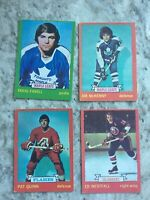 1973-74 OPC Hockey Card Lot Of 4 Cards - All good players