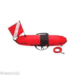 Torpedo Buoy Diver Down Flag Float Marker Scuba Diving 60' Line FL0315