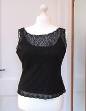 PLANET BLACK LACE EVENING TOP SIZE LARGE BUST 40""