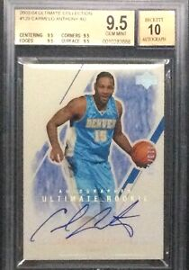 2003 Ultimate Collection Carmelo Anthony ROOKIE RC AUTO /250 BGS 10 GEM MINT