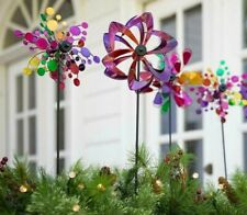 "Set of (3) 22"" Artisan Garden Décor, Mini Wind Spinners"