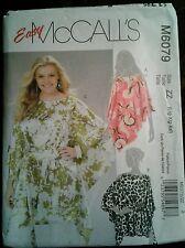 Sewing Pattern McCall's 6079 Misses Top Blouse Shirt Uncut Complete SZ L XL XXL