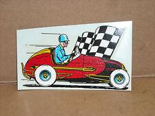 "VINTAGE ORIGINAL 1960'S MIDGET/SPRINT CAR WATER TRANSFER DECAL 4.5"" X 2"""