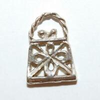Ladies Purse Handbag Sterling Silver Vintage Bracelet Charm With Gift Box
