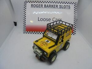 """Scalextric/SCX STS Land Rover """"Camel"""" yellow Exc"""