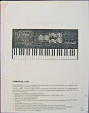 Crumar BIT ONE User's Owners Manual for this Classic Analog Synthesizer