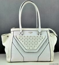 FREE Ship USA Handbag GUESS Tough Luv Satchel Bag White Chic Stylish Lovely