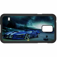 Blue Car And Lightning Hard Case Cover For Samsung New