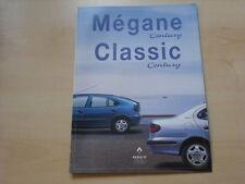 52193) Renault Megane + Classic Century Prospekt 01/1998