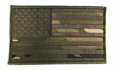 "Large 5"" X 3"" US American Flag Patch (Multicam) Hook and Look Backing - ODA, SF"