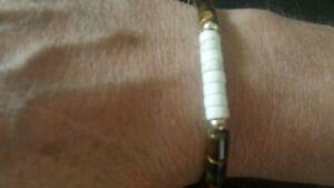 mens womens bracelet 9k gold Tigereye white Turquoise  father's boyfriend gift