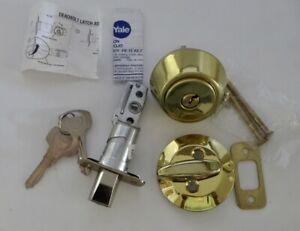 NEW YALE POLISHED BRASS DEADBOLT LOCK CYLINDER US3 820-SGL.CYL.