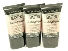 (3) MAYBELLINE MASTER STROBING LIQUID HIGHLIGHTER #100 Free Shipping