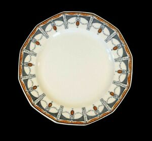 Beautiful Royal Doulton Claremont Dinner Plate, Orange Circa 1912
