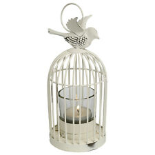 dotcomgiftshop VINTAGE SMALL BIRD CAGE LANTERN.  WHITE TEA LIGHT CANDLE HOLDER
