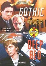 GOTHIC / DEEP RED (DVD), GABRIEL BYRNE,JULIAN SANDS, GHOST HORROR