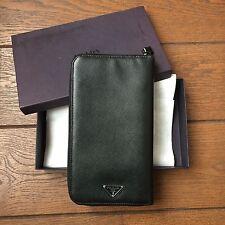 Prada zip-around travel wallet
