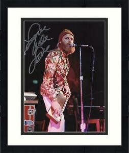 """Framed Mike Love Beach Boys Signed 8"""" x 10"""" Singing & Playing Instrument Photo"""