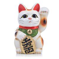 Groß Weiß Traditionell Japanisch Maneki Neko