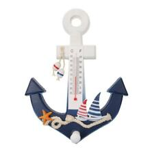 Nautical Anchor Wall Hanging Hook Thermometer Ship Starfish Deco Coat Holder