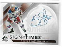 17-18 UD SP authentic Hockey Sign of the Times Kevin Shattenkirk auto 1:1,543