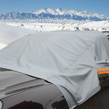 Car Covers Auto Front Windshield Snow Windshield Sun Shade Half Top Covers Gray