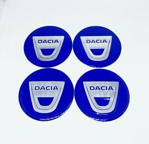 4 x 60mm Alu Emblem Felgen Aufkleber Logo Nabendeckel Nabenkappen für DACIA