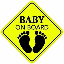 BABY ON BOARD Sign Sticker Decal Buy 2, Get 3rd FREE Made In the USA