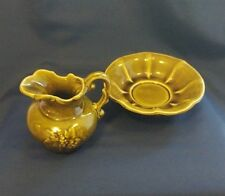 Vintage McCoy Pitcher with Basin/Bowl Decorative Grape, Country Cottage Decor