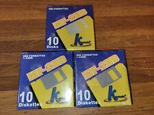 3 packs of IBM Formatted 1.44MB - 10 Pack Diskettes MF-2HD SEALED Floppy Disks