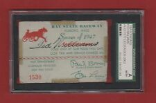 Rare Vintage 1/1 -Red Sox Ted Williams Auto-1947 Bay State Raceway Pass-SGC Auth