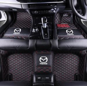 For Mazda-2-3-6-CX3-CX5-CX7-CX8-CX9-MX5 Diamond Car Floor Mats-Right-hand drive