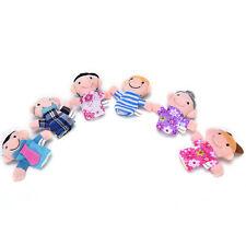 6x famille doigt marionnettes tissu poupée bébé jouet éducatif m IY