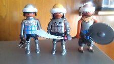 playmobil medieval soldados guerreros custom