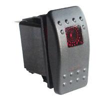 12v/24V 4 Pins SPDT ON-OFF-ON Rocker Switch Red led 2 Lights Waterproof IP66