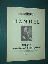 Partitions 4 Sonaten Blockflöte (flûte à bec) et piano HÄNDEL