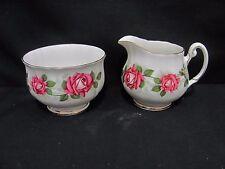 Royal Adderley Ridgeway The Miss Canada Rose Cream jug & Sugar bowl Set England