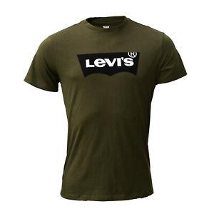 Levi's Herren T-Shirt, olivgrün, Kurzarm, Rundhals