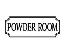 Powder Room Door wall vinyl decal sticker
