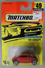 Matchbox 1:64 Scale 1996 Superfast VW CONCEPT (RED)