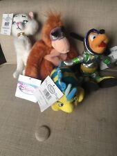 Disney Beanbag Plush Lot Duchess Flounder Pluto King Louie 7-8� Stuffed Animals