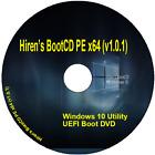 Hiren?s BootCD PE x64 (v1.0.1) Windows 10 Repair Diagnose PC Laptop on DVD