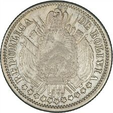Bolivia 1871 10 Centavos VF+