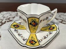 SHELLEY Queen Anne Demi Tasse Cup And Saucer 'Fruit And Diamonds' 11511