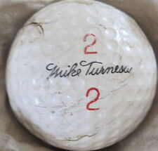 (1) MIKE TURNESA SIGNATURE LOGO GOLF BALL ( SPALDING VULCANIZED CIR 1959) #2/2