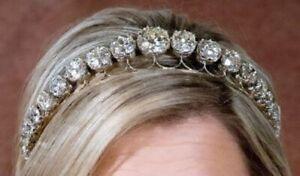 925 Sterling Silver Sparkly Round CZ Headband Royal Handmade Riviere Tiara/Crown
