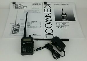 Kenwood FM Tribander TH-F6 Transceiver Handheld Amateur Radio Wide Band Receiver