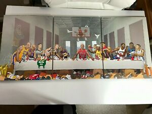 Last Supper -3 Piece Large Canvas Wall Art Funny Basketball GREATS