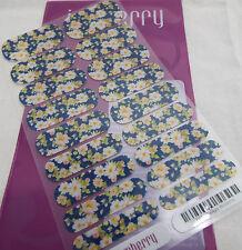 Jamberry Twilight Blossoms B113 Nail Wrap  (Full Sheet ) Retired Design