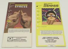 Lot Pull Slide Charts Facts Recognizing Stress Army VA Fort Sill Americas Heroes